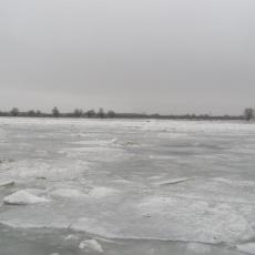 Вид на реку зимой