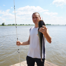 Ловля сома на Астраханской жемчужине в августе