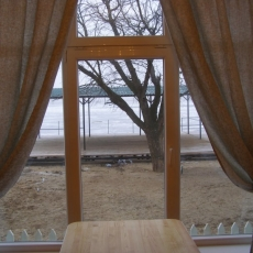 Вид из окна столовой